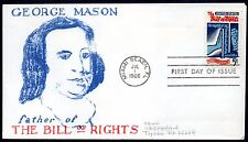 1312 - Bill of Rights -  First Day cover -- Virgil Crow cachet