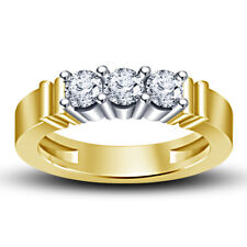 For Ladies 10k Yellow Gold Over 1.05 Ct Round Cut Engagement Diamond Ring