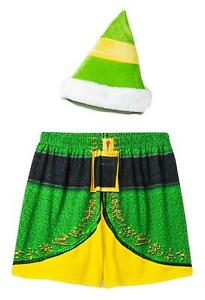 ADULT BUDDY THE ELF CHRISTMAS MOVIE BOXERS & HAT UNDERWEAR NWT