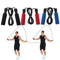 9.84ft PVC Rubber Bearing Fitness Skipping Jump Rope Cross Fit with Foam Handle