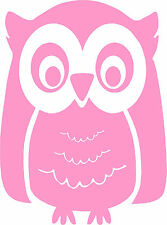 Cute Owl - Pick Your Color - Vinyl Car Window Cutout Sticker Computer