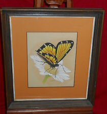 Framed Pastel Drawing #1 - Butterfly - Leslie Roe