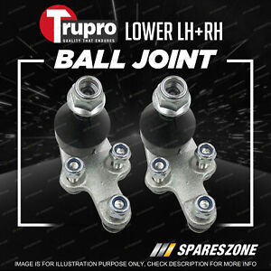 Pair Trupro Lower Ball Joints for Ford Focus LS LT LV Sedan Hatch 2/2005-6/2011