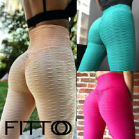 Women Yoga Pants High Waist Ruched Butt Lift Gym Running Fitness Sports Trousers