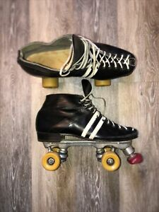 VINTAGE RIEDELL RED WING ROLLER SKATES W/PACER PLATES Excellent Men 9 Women 11