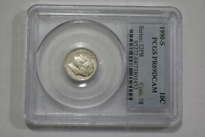 USA DIME 1990-S PCGS PR69DCAM B21 FRAN28