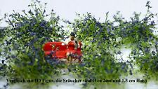 Vickto Sträucher 10 Stück H0/TT Maigrün violett blühend