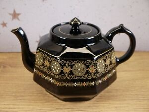 Vintage Gibson & Sons Burslem Black Teapot