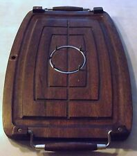 Vintage A Prince Imports Japan Wood Meat Cutting Carving Board Platter Spikes