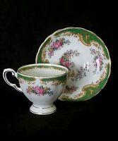 "Vintage Tuscan fine English bone china tea cup & saucer ""Naples"", circa 1950's"
