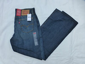 NWT MENS 514 LEVIS STRAIGHT LEG JEANS $58 DARK 00514-0191