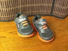 Fila toddler boys athletic shoes toddler size 5 gray orange  F9