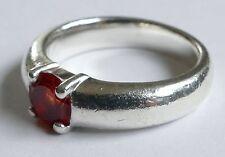 Ring Solitär orangefarbener Edelstein Silber 925 Vintage 70er ring