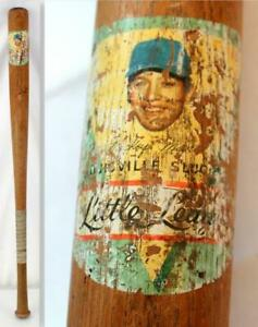 Rare 1950's Mickey Mantle NY Yankees Decal Little League Baseball Bat