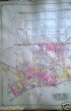 Orig 1927 E Belcher Hyde Atlas Map MASPETH QUEENS NY GARRISON AV - NEWTOWN CREEK