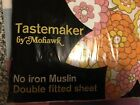 Vintage Full Fitted 50/50 Sheet Floral Tastemaker By Mohawk No-iron New Old Stoc