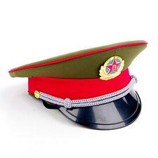 Military officer Captain's Visor Hat Chinese Communist Army Cap&badge 59cm New