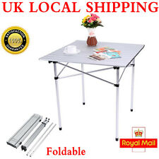 Portable Aluminium Roll Up Fold Away Camping Table W/ Bag Durable Top Quality UK