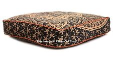Indian Large Floor Pillow Cover Ottoman Ombre Mandala Cushion Cover Outdoor Pouf