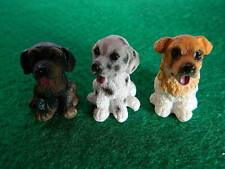 (G5.9) DOLLS HOUSE RESIN SET OF THREE ASSORTED SMALL DOGS/PUPS