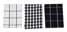6x cuadros Vichy Negro Blanco 100% algodón paños de cocina