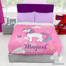Unicorn Horse Rainbow Fleece Blanket Comforter Bedding Twin Full 1Pc Rainbow New