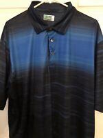 BEN HOGAN Performance GOLF Polo Athletic SHIRT Short Sleeve BLUE Size 2XL NWOT