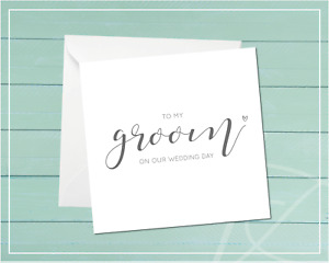 Wedding Day Greeting Cards to my Bride to my Groom Wedding Keepsake Marriage
