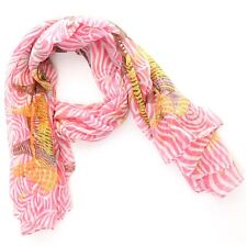 Scarf Shawl Wrap Hawkins Large Stole ZEBRA ANIMAL PRINT Women PINK BLUE GREEN