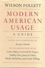 Modern American Usage : A Guide by Wilson Follett (1966, Hardcover)