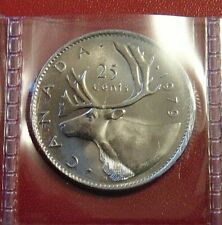 1979 CANADA quarter dollar twenty five 25 cents cent piece coin UNC BU