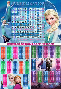 FROZEN Times Tables Poster Chart Maths Educational Learning Home Schooling Teach