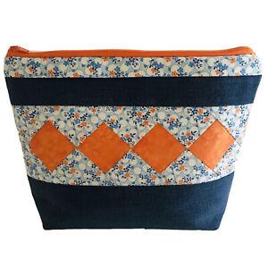 Cosmetic Handmade Makeup Bag Toiletries Travel Pencil Case ~ LARGE ~ BNWOT