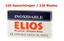 220 Lames de Rasoir Elios Inoxidable Platinium Suédois Steel Sécurité Doubleedge