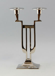 9977006 Chandelier 2-flammig Couleurs Argentées Nickel Plaqué Art Nouveau Neuf