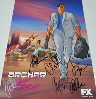 Archer cast signed 2014 SDCC poster Judy Greer Tyler Nash Parnell Yates