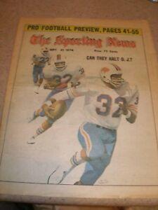 September 1974 The Sporting News - O.J. Simpson Buffalo Bills HOF Running Back