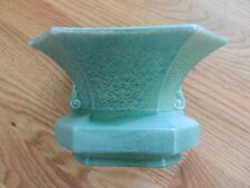 Red Wing RUMRILL pottery number 310 green 8 sided vase