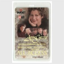 Amy Grant authentic 1999 concert Laminated Backstage Pass Michael W. Smith Aa