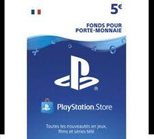 5€ Carte  PlayStation Network