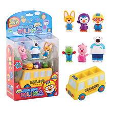 Pororo & Friends Mini School Bus 6 X Figures Sound Toy Korea Animation Kids Gift