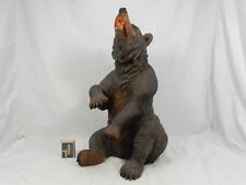 Huge Swiss Black Forest carved Bear geschnitzter Brienzer Bär um 1890 41 cm