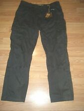 NWT ROK CHARCOAL COTTON CARGO PANTS Size 34/30 $68