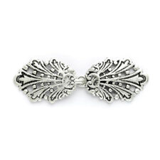 Peacock Clasp: 80mm: Silver
