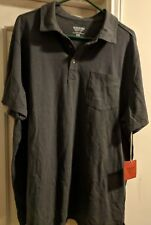 NWT MOSSIMO SUPPLY COMPANY MEN SHORT SLEEVE POLO (SIZE: 2XL) GRAY COLOR