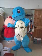 Halloween Adults Squirtle Turtle Mascot Costume Pokemon go pikachu Fancy Dress