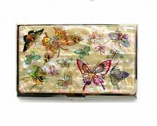 Mother of pearl Business card holder credit card namecard case butterfly Design