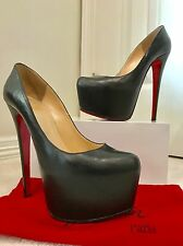 Christian Louboutin Daffodil 160 - Black - Kid Leather - Size 37