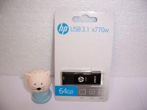HP x770w 64GB USB stick sliding (HPFD770W-64)  USB 3.1  NEU / OVP