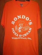 Williamsport OH orange graphic Rondos Pizza n Cream XL t shirt